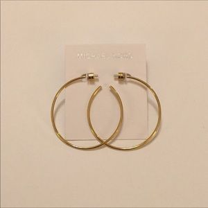 Michael Kors Gold-Tone Hoop Earings